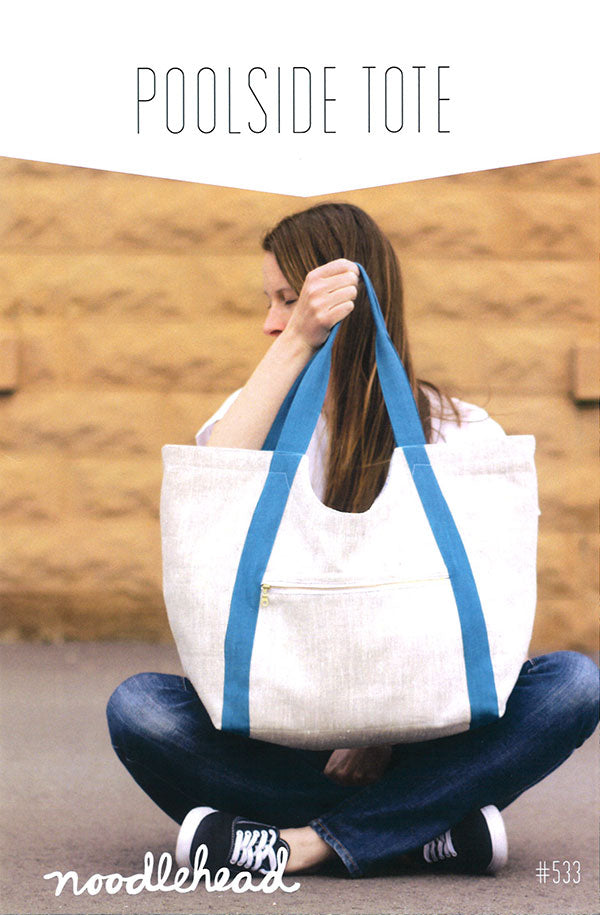 Poolside Tote Bag Pattern by Noodlehead Patterns Roomy pockets handles