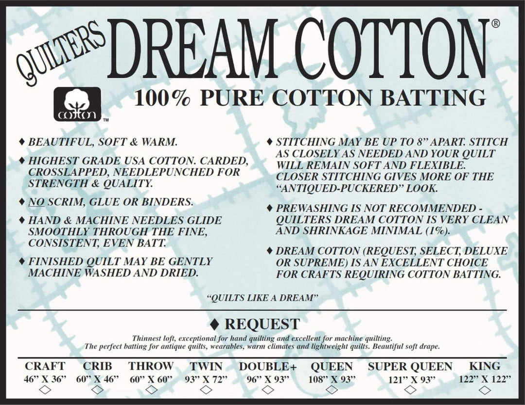 Natural Cotton Request Batting Twin 93