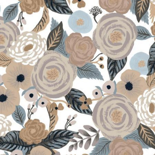 Rifle Paper Co. for Cotton + Steel Garden Party Juliet Rose Linen Multi Canvas fabric