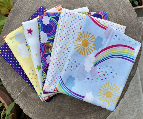 Lewis and Irene Rainbow Fat Quarter Bundle Fabric