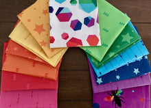 Load image into Gallery viewer, Create Fabric Rainbow fat quarter bundle Kristy Lea Riley Blake