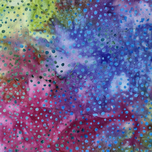 rainbow background with blue  dots batik