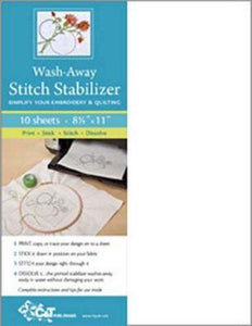 C&T Publishing Wash Away Stitch Stabilizer Embroidery Machine Quilting Applique Notion