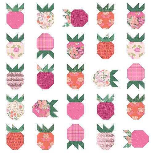 Strawberry Fields Quilt Pattern Citrus and Mint