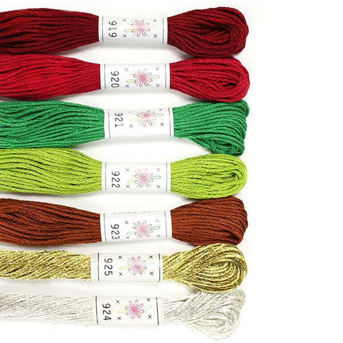 Egyptian Cotton Mercerized embroidery floss Christmas Tree Metallic Palette Sublime Stitching thread