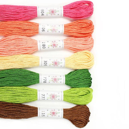 Egyptian Cotton Mercerized embroidery floss Flowerbox Palette Sublime Stitching thread