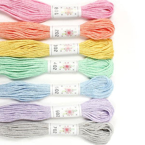 Egyptian Cotton Mercerized embroidery floss Frosting Palette Sublime Stitching thread