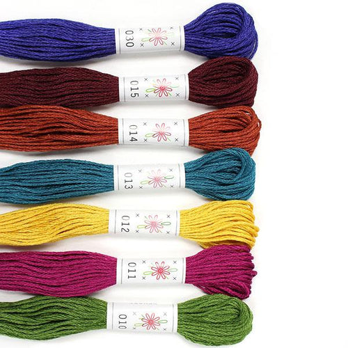 Egyptian Cotton Mercerized embroidery floss Laurel Canyon Palette Sublime Stitching thread