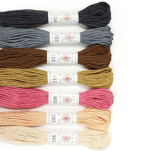 Egyptian Cotton Mercerized embroidery floss Portrait Palette Sublime Stitching thread