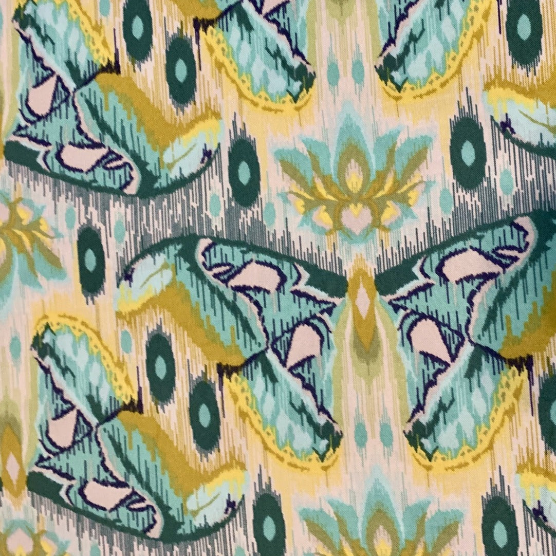 Tula Pink Atlas Moth Sapphire Eden Out of Print