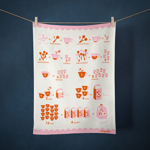Melody Miller tea towel kitchen measurements cotton