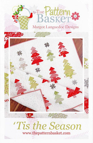 wonderful winter weather with 'Tis the Season Quilt Pattern.  jelly roll friendly  favorite festive colors