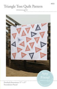 Improv paper piecing template random modern