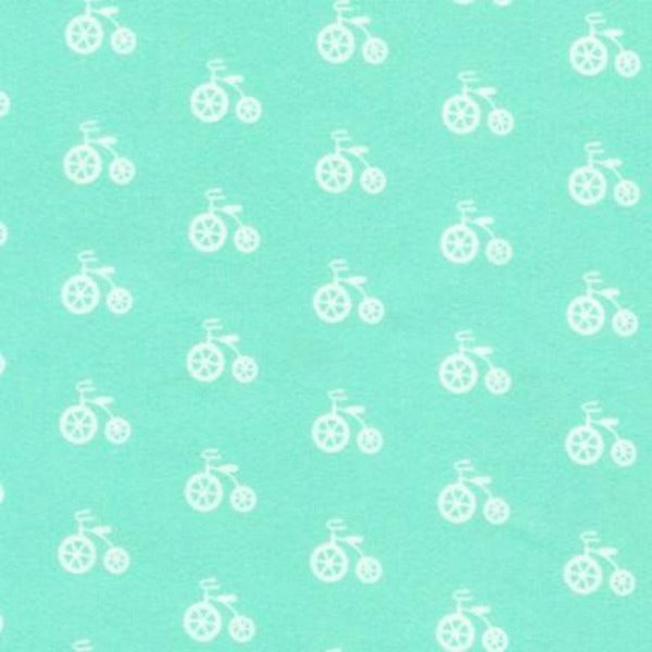 cozy flannel seafoam tricycle cotton