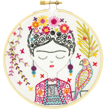 Load image into Gallery viewer, Jolie Frida Embroidery Kit Made in France