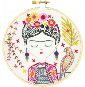 Jolie Frida Embroidery Kit Made in France