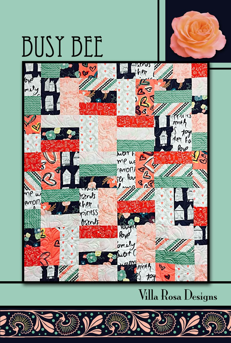 Villa Rosa Designs Postcard pattern fat quarter friendly beginner