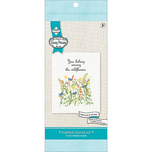 Needle Creations Wildflower Embroidery Preprinted Canvas