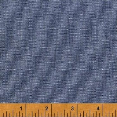 Artisan Solid Cotton by Another Point of View for Windham Fabric denim blue cross dyed quilter weight cotton