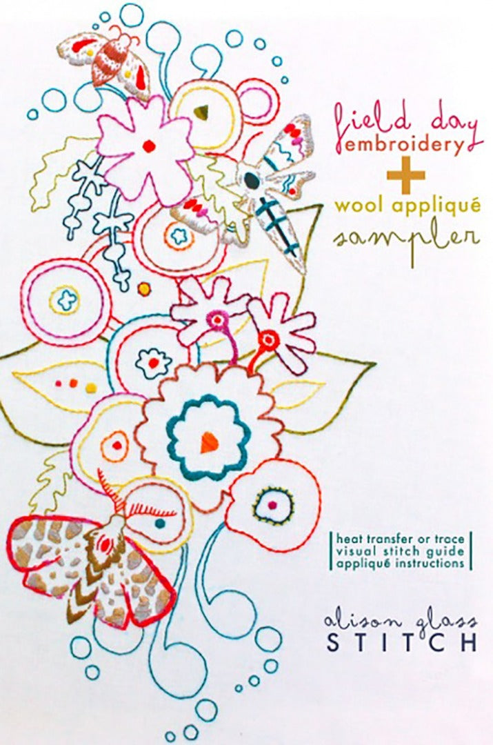 Alison Glass embroidery wool applique sampler heat transfer