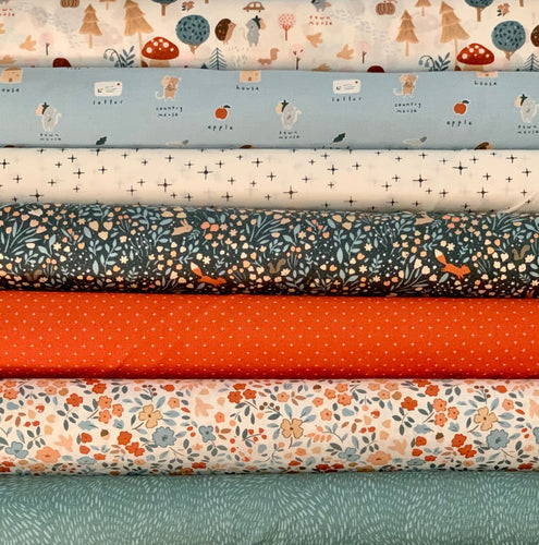 custom curated fat quarter bundle Dear Stella Fabric Country Mouse