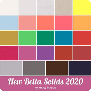 Moda Bella Solids 2020 New Colors Swatches