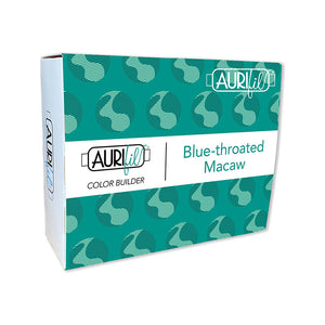 aurifil endangered species blue throated macaw thread set color builder teal 40 wt 3 spools