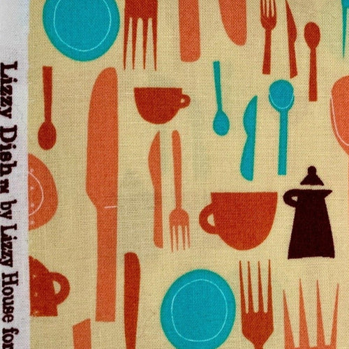Lizzy House Lizzy Dish First Line for Andover Fabrics Out of Print Very Hard to Find OOP VHTF HTF