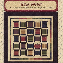Load image into Gallery viewer, quilt pattern Kansas Troubles Moda charm pack thread spools