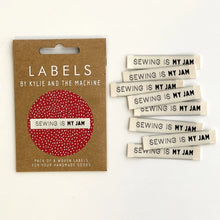 Load image into Gallery viewer, Sewing is my Jam Woven Quilt Label Package of 8