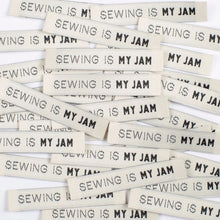 Load image into Gallery viewer, Sewing is my Jam Woven Quilt Label Kylie and the Machine