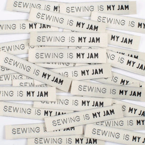 Sewing is my Jam Woven Quilt Label Kylie and the Machine