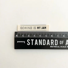 Load image into Gallery viewer, Sewing is my Jam Woven Kylie and the Machine Label 1 cm by 5.5 cm