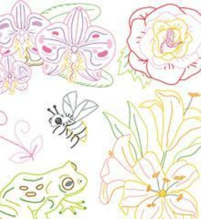 Sublime Stitching Little Blooms Iron On Transfer Embroidery