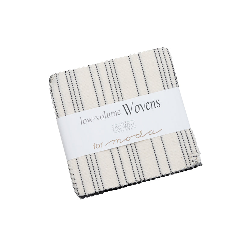 cotton woven neutrals by jen kingwell black, grey, ivory