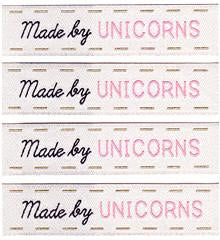 Made by Unicorns Woven Labels by Sublime Stitching