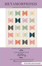 Load image into Gallery viewer, Metamorphosis Quilt Pattern Butterfly Half Circles