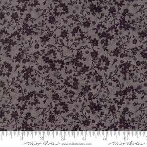 Basic Grey by Moda tone on tone grey and black in a floral pattern