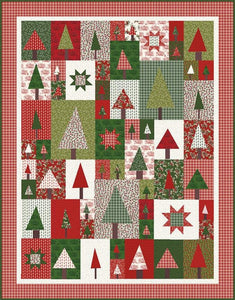 Amy smart pine hollow patchwork forest quilt paattern