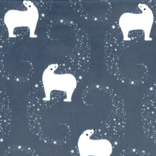 Michael Miller Polar Bear Minky 60 inches wide