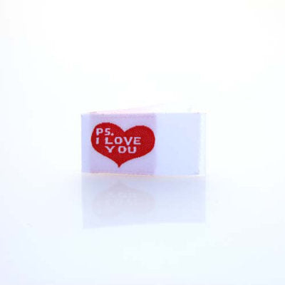 ps i love you labels for quilts or clothing