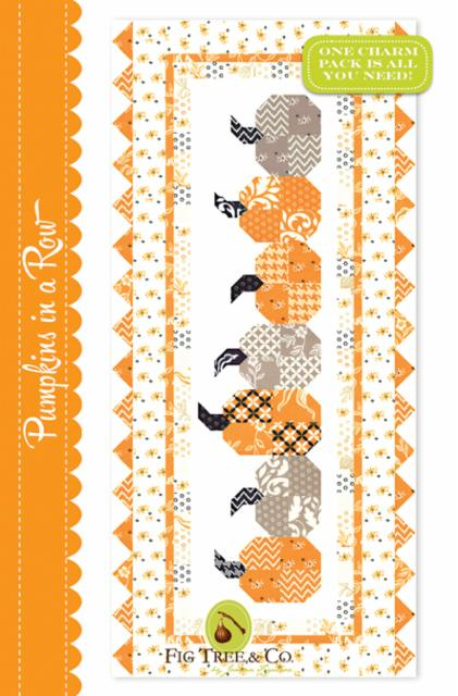Pumpkins in a Row Table Runner Pattern by Fig Tree & Co.
