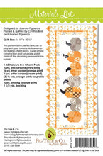 Load image into Gallery viewer, Pumpkins in a Row Table Runner Pattern by Fig Tree & Co.