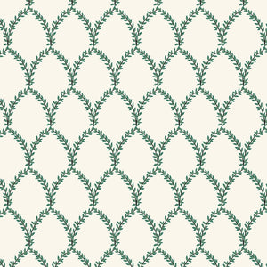 Strawberry fields Rifle paper co small floral in green geometric