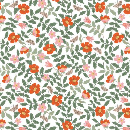 Strawberry Fields - Primrose by Cotton and Steel - Ivory