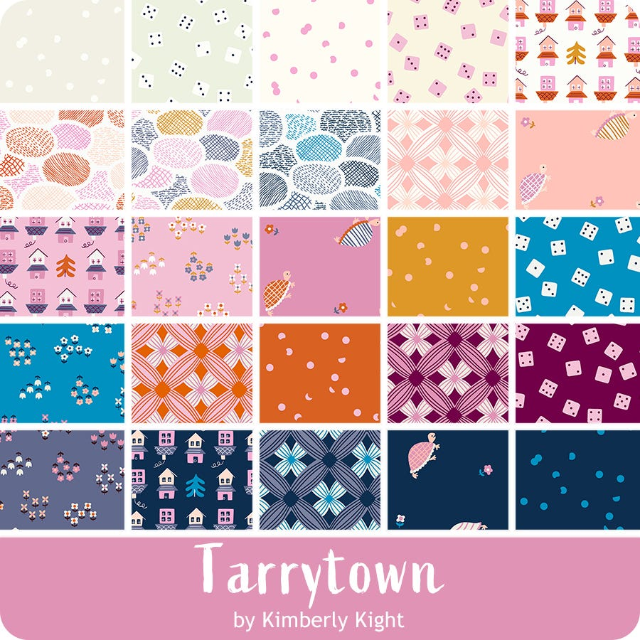 Tarrytown Kimberly Kight Ruby Star pale colors turtles, houses, dice