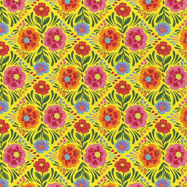 Paintbrush Studios ¡Viva Mexico! Floral in Yellow 120-21271