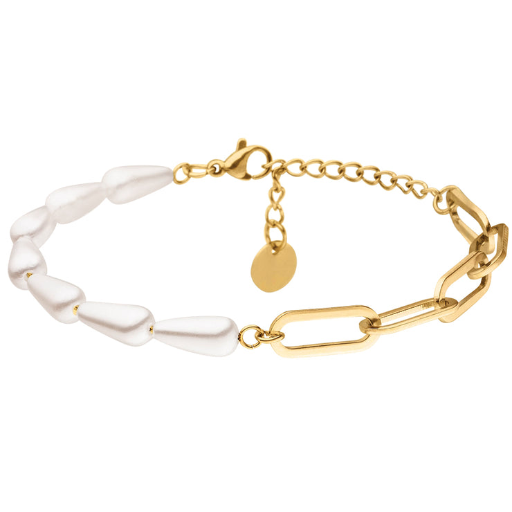 WHITE ANCHOR PEARL ARMBAND