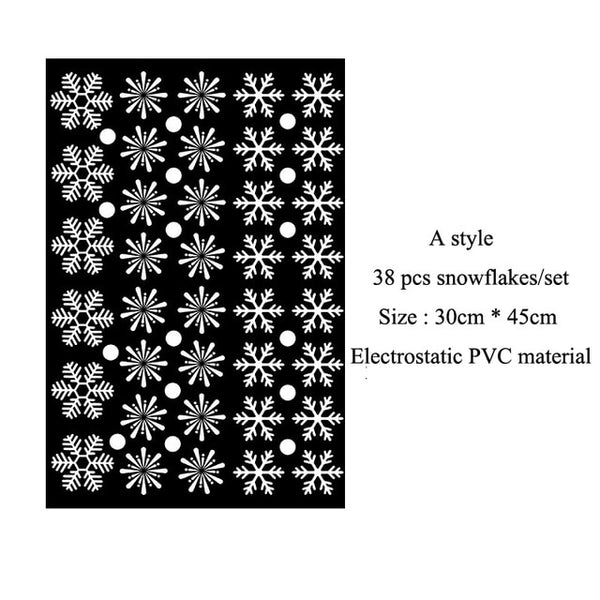 38 pcs/lot Snowflake Stickers