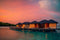 CoolWalls.ca Background Floating hotels with orange sunset